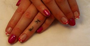 Mood Pink to Purple with Pink & White Tips