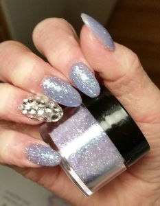 Purple Glitter with Swarovski Crystal Gels