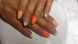 Peaches & Orange French Gels